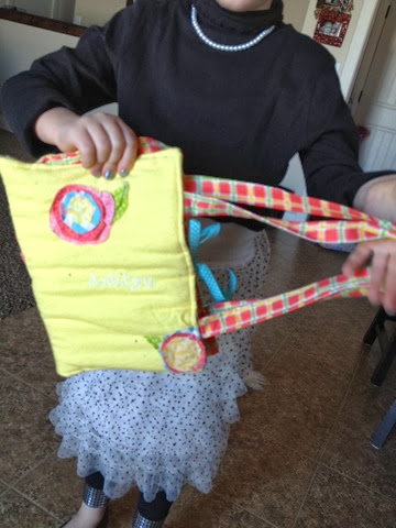 pencil and notebook case that child sewed