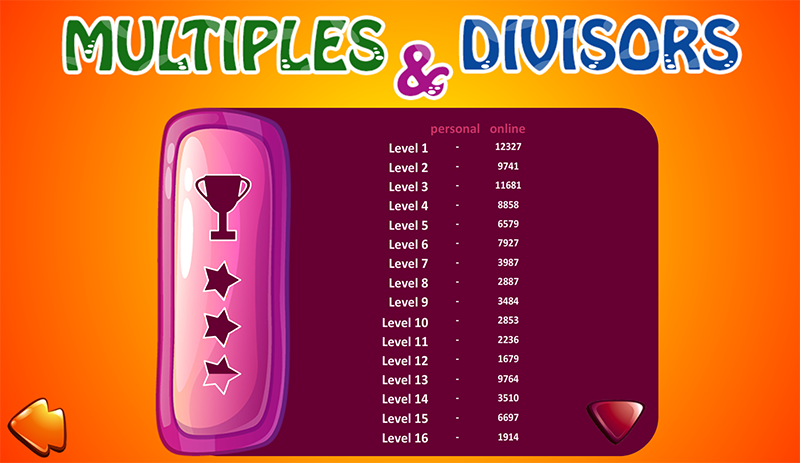 Multiples and Divisors- screenshot