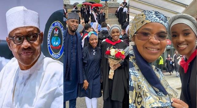Buhari's Daughter, Hanan Bags Masters Degree from a UK University [Photos]