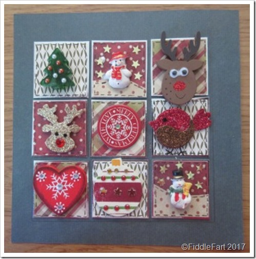 2 Christmas Patchwork Box Frame