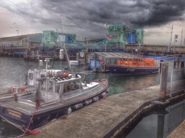 Sepia style photo of the Tyne class lifeboat - 2 June 2015.  Photo credit: Steven King
