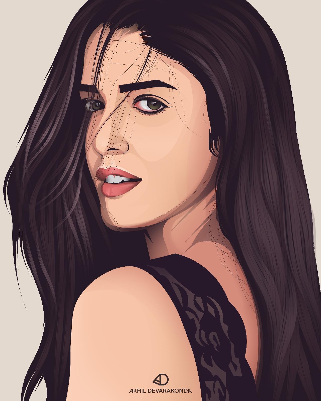 Izabelle Leite Vector Artwork - Akhil Devarakonda