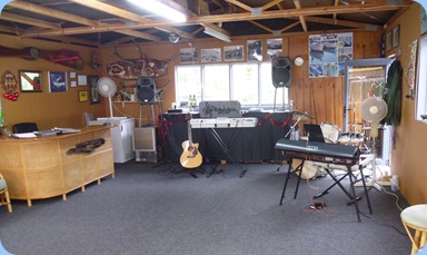 Setting-up in the Garage/Rumpus Room.