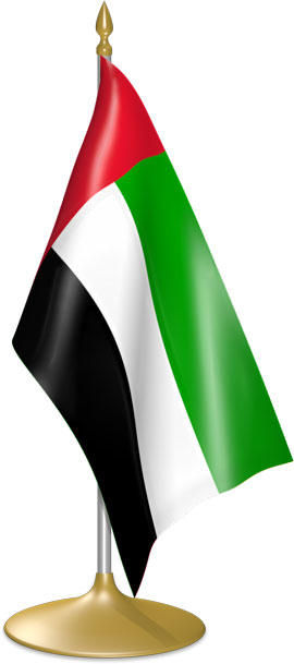 Emirati table flags - desk flags