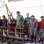 1969.08 Marmolada summit,Ron Viveash, Sylvia,a vicar, Pete Hardman, Alan Foulds,Mike Briggs, Chris Bristow.jpg
