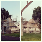 Oh, just building a #pyramid at the #cemetery. Nothing to see here. #HollywoodForever