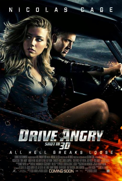 Poster Of Drive Angry (2011) Full Movie Hindi Dubbed Free Download Watch Online At Alldownloads4u.Com