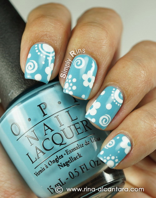Little Things Nail Art Design on OPI Can't Find My Czechbook
