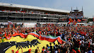 F1 Fans take over the Monza main straight for the podium ceremony