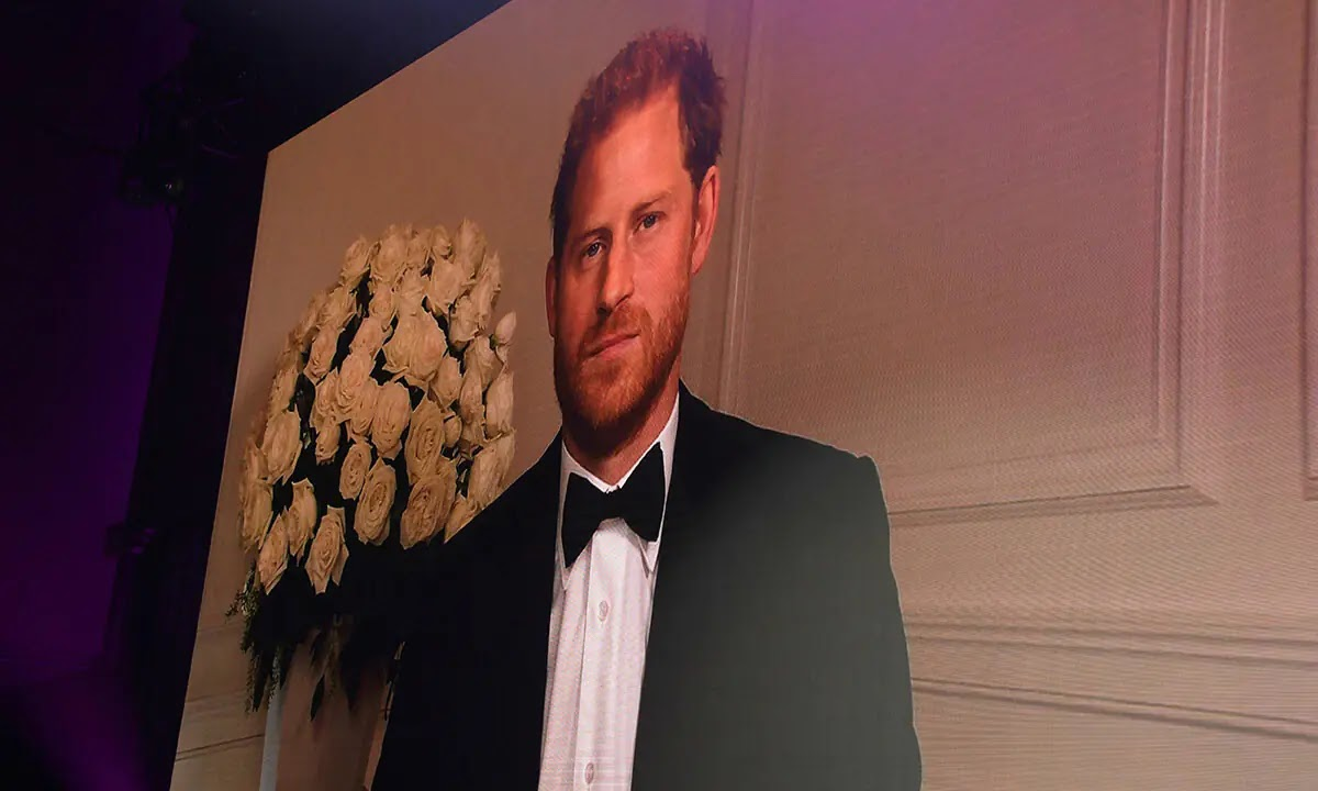 Prince Harry grins as he cracks a Joke about Tuxedos at GQ Awards