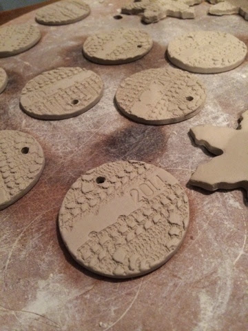 these were a last minute addition to the ornaments this year - Ceramic Christmas Ornaments