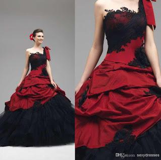 Red Gothic Wedding Dress 14 Unique gothic dresses u Photo