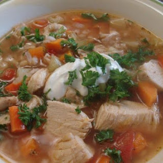 Chicken And Barley Soup.