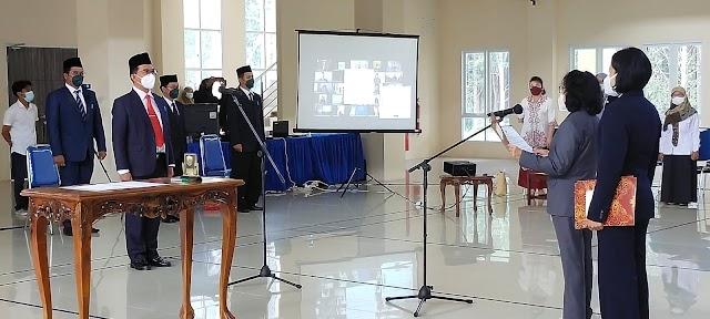 Taty Resmi Lantik dr Muliyanto Budihardjo sebagai Direktur RSUD Pulang Pisau
