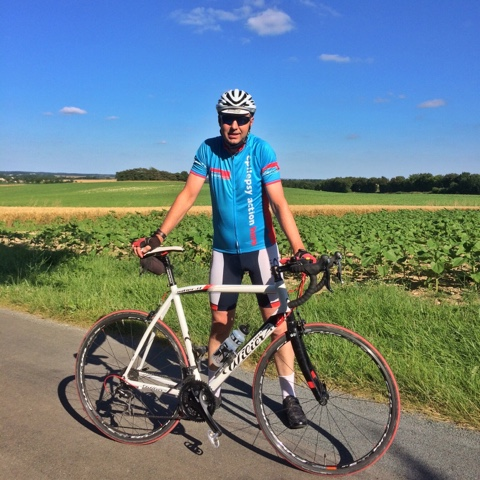 French Village Diaries Epilepsy Action cycling hero