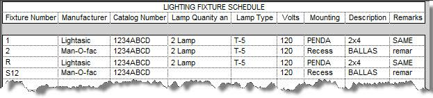 CAD Shack: Revit MEP How to Create a Lighting Fixture Schedule