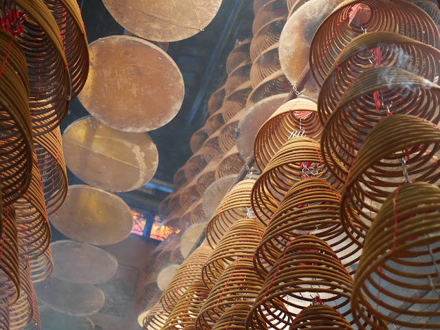 incense coils hanging in Kwun Yum Temple