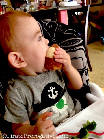 Toddlers are tiny meal thieves.