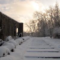 Zima przy kościele