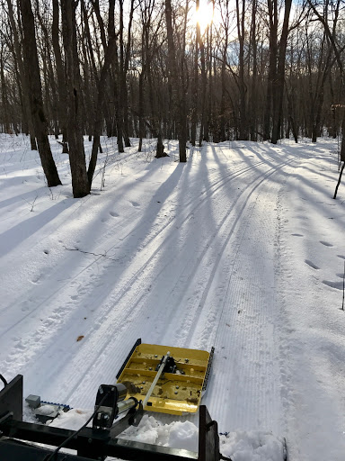 Cutting new track at dusk, Twin Lakes February 16th, 2017