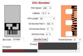 Ilford PAN F a DXn Simulator oldalán