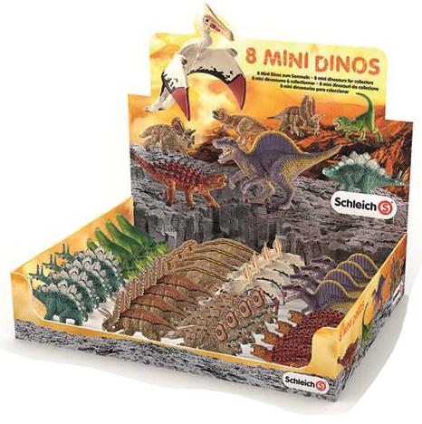Đồ chơi trẻ em: Mô hình 8 loài Khủng long cỡ nhỏ Mini Dinos Schleich