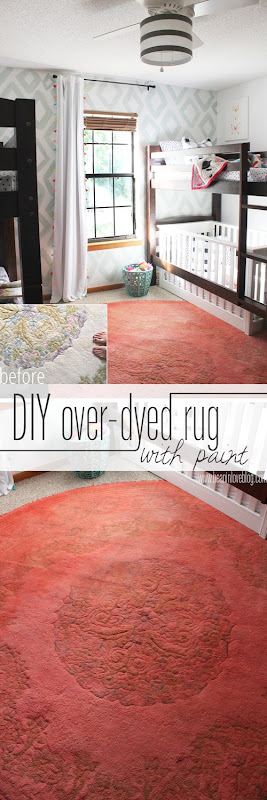 diy over-dyed rug