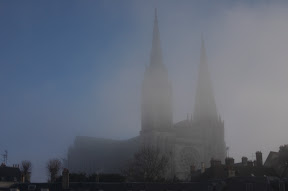 Chartres in the fog