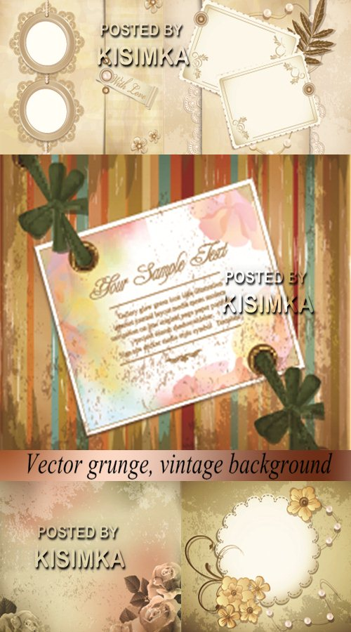 Stock: Vector grunge, vintage background