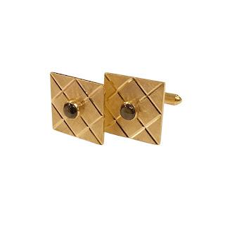 14K Gold and Chatoyant Stone Cufflinks