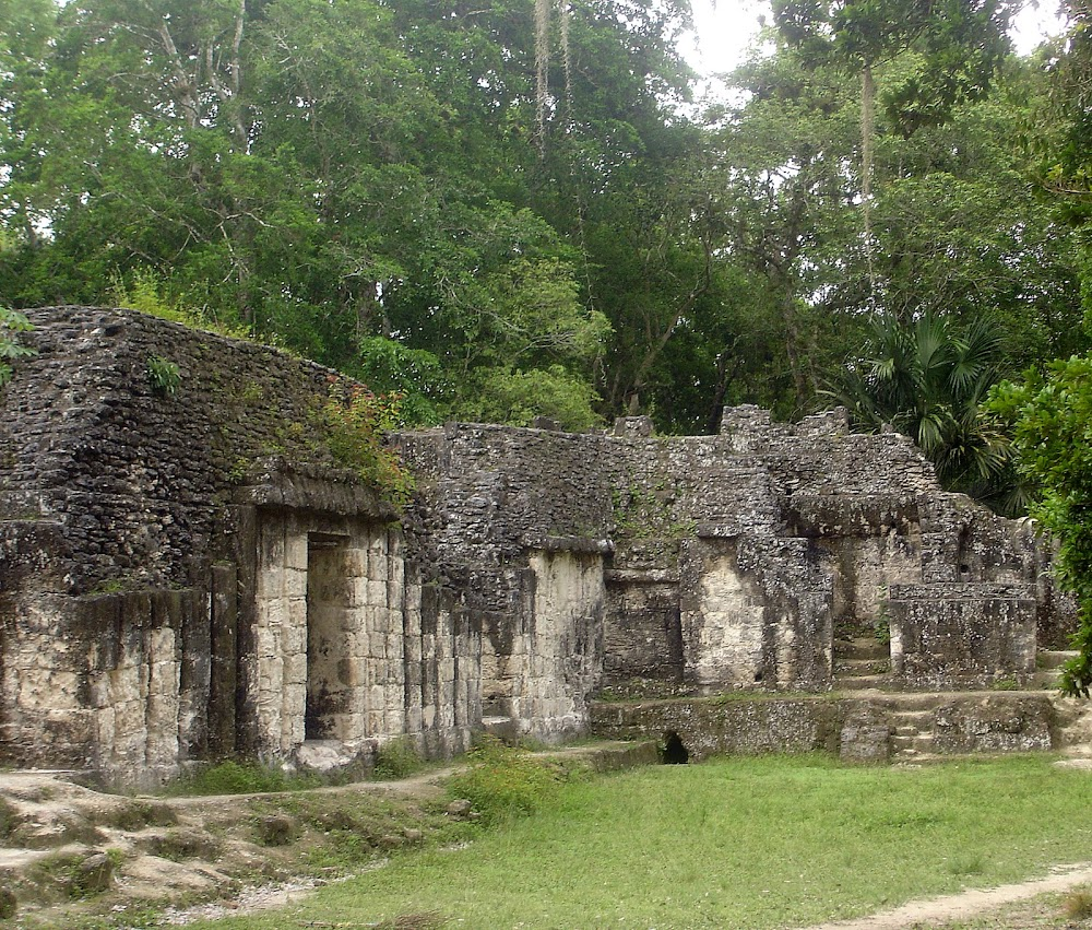 the Tikal ruins.........