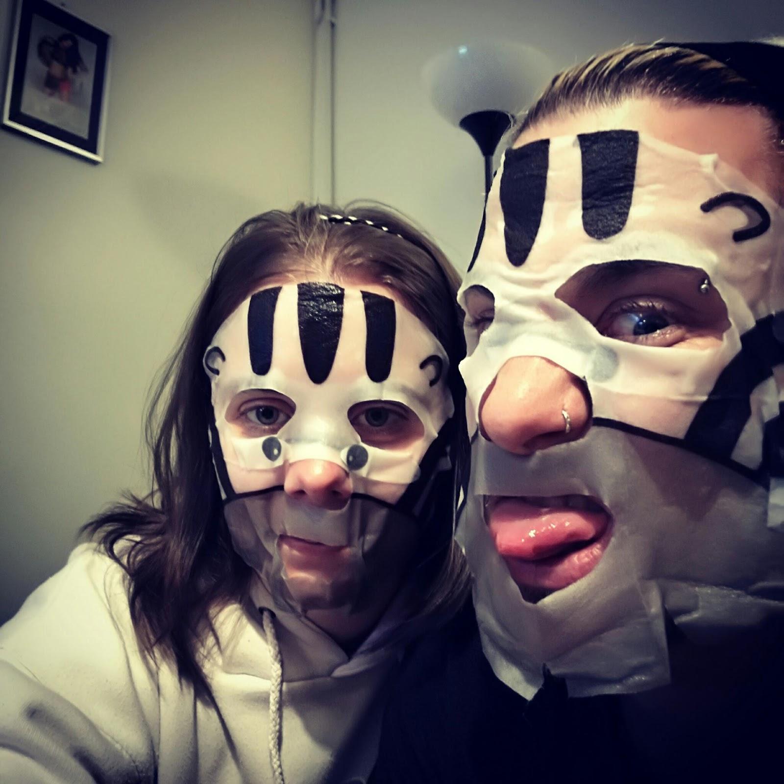 The adventures of Lau~: Zebra face masks