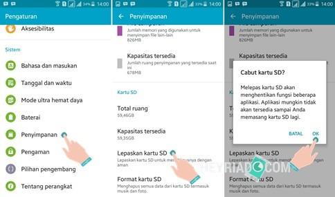 Tak sedikit pengguna smartphone Android yang menghiraukan bagaimana  2 Cara Melepas SD Card Android Yang Benar dan Aman