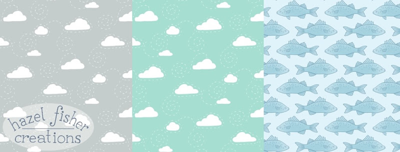 August review spoonflower clouds fish designs fabric hazelfishercreations 5Aug15