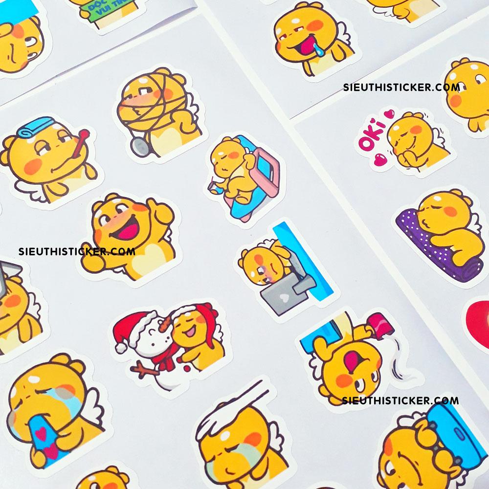 sticker giấy nền trang trí tập vở notebook
