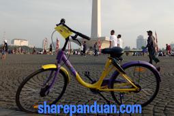 Unduh Aplikasi Gowes, Pengunjung Dapat Bersepeda Keliling Monas