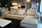 divano LIMES SABA ITALIA - visibile nel nostro showroom di Zogno Bergamo, particolare penisola