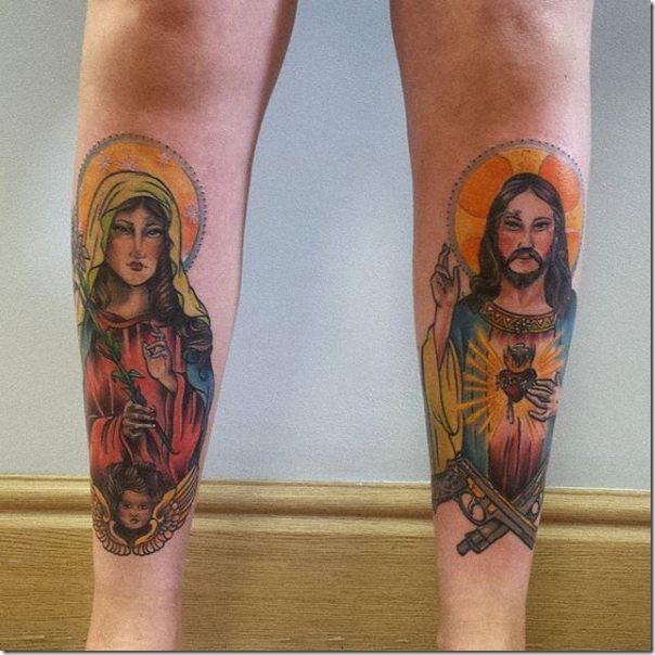 tatuajes_de_colores_de_mara_y_jess_en_las_piernas