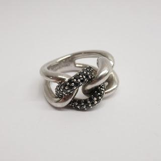 Sterling Silver Swarovzki Ring