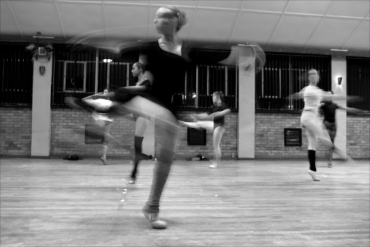 Swanning: Teenage dancers from the Ballet Theatre Afrikan in Johannesburg's Highlands North: Jade at dance class at H.A. Jack School.
