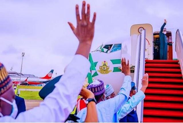 President Muhammadu Buhari Arrives London For Medical Checkup And Education Summit (See Photos)