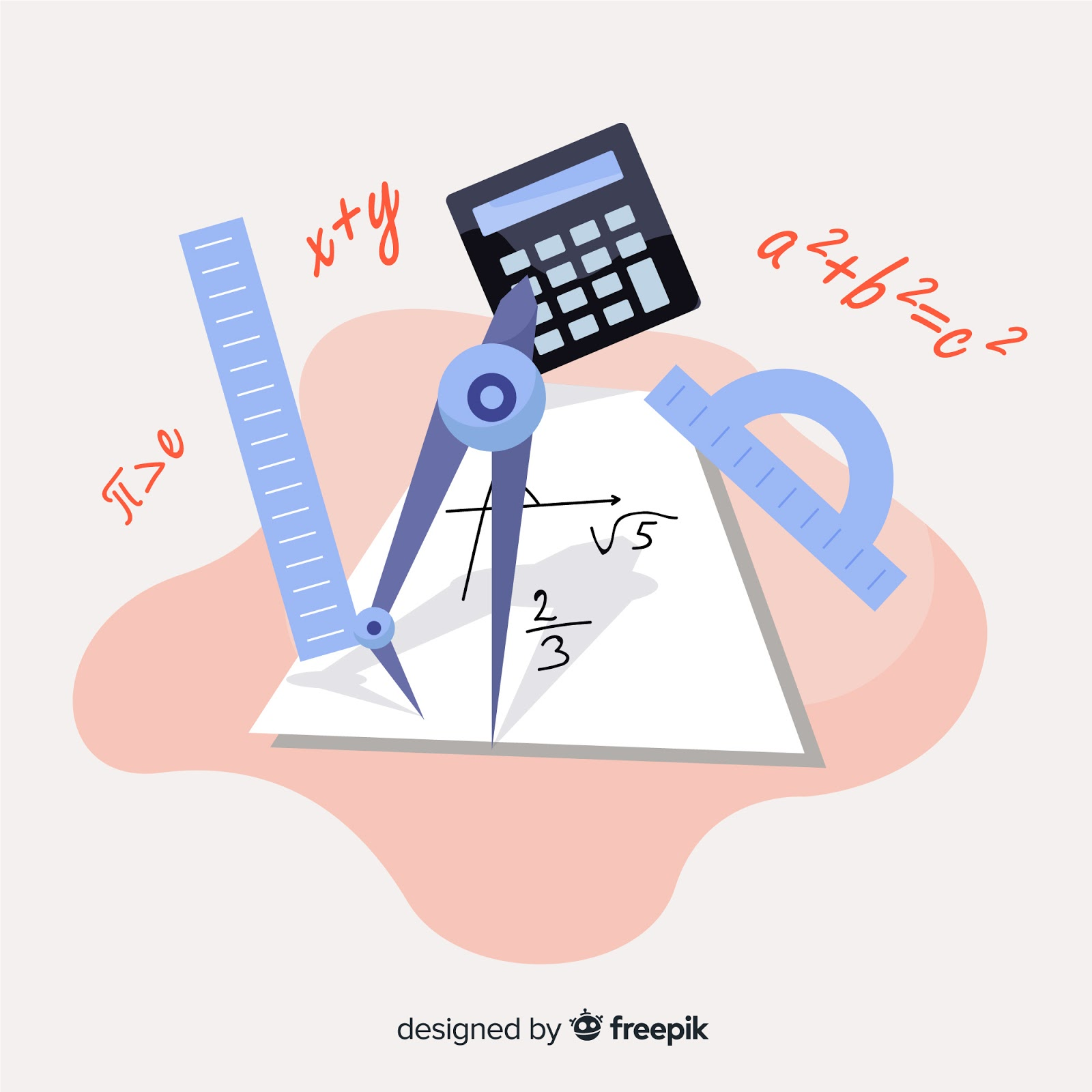Cartoon Math Elements Free Download Vector CDR, AI, EPS and PNG Formats