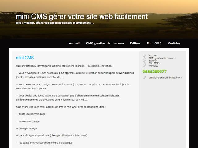 Mini CMS 1.4 - 01a 1024x768