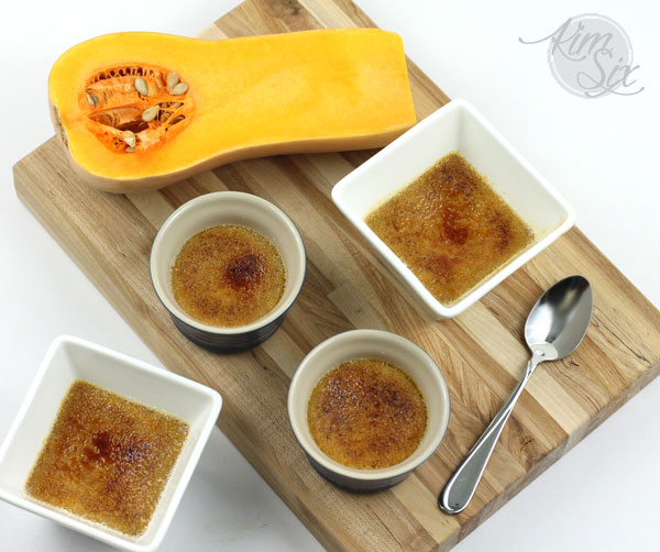 Creme Brulee and Pot de Creme with Butternut squash