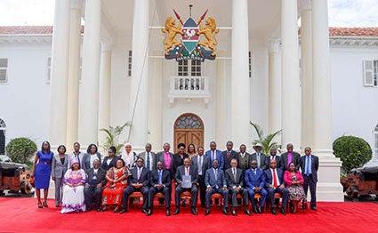 The BBI taskforce at Statehouse Nairobi. PHOTO | PSCU