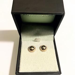 14K Gold Hemisphere Earrings