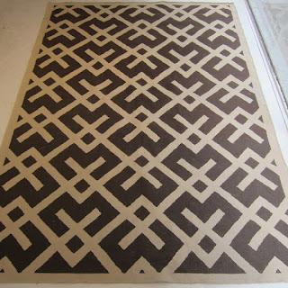 Flat Weave Geometric Area Rug