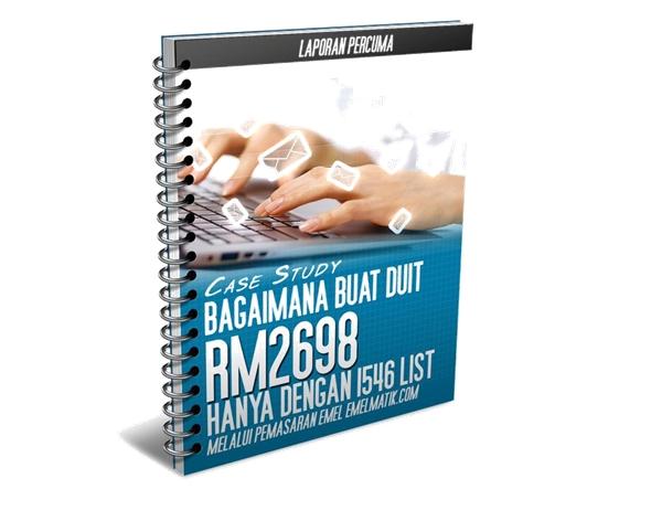 laporan percuma buat duit rm2698 dengan 1546 list email dengan pemasaran email