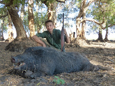 Young Mr Leserer does it again with a heavy wild boar at Carmor Plains