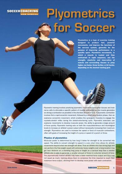 Plyometrics for Soccer PDF